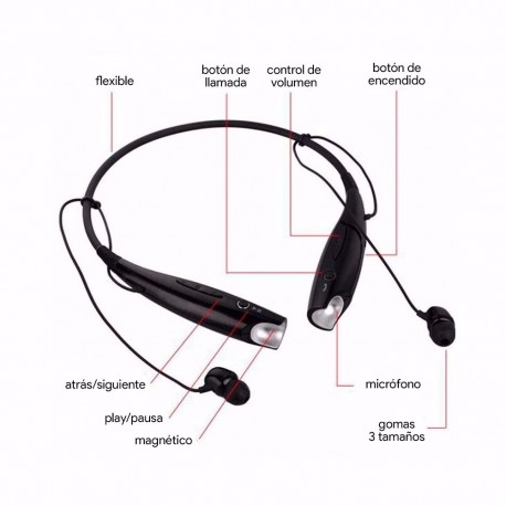 Stereo Headset Wireless Manos libres