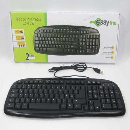 Teclado Easy line (teclado multimedia core USB)