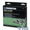 SERIAL PCI CARD MANHATTAN 2 PUERTOS DB9