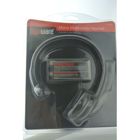 Gigaware Mono Multimedia Headset Auriculares multimedia mono