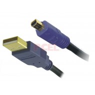 Cable USB Acteck de Tipo A a Mini USB tipo B, 1.8mts