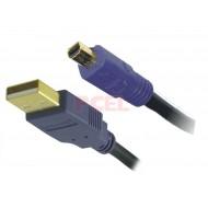 Cable USB Acteck de Tipo A a Mini USB tipo B, 1.8mts